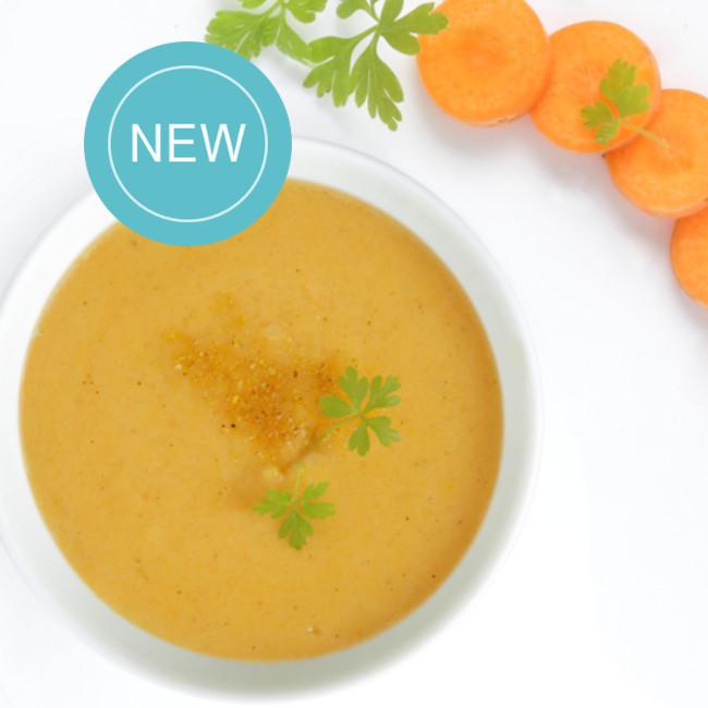 LIQUIDE / MIXE-LISSE - Soupe Colin, pomme de terre et duo de carottes-courgettes
