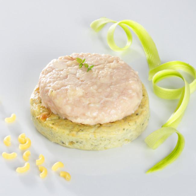 MIXE-HACHE - Dinde, fondant courgettes et coquillettes