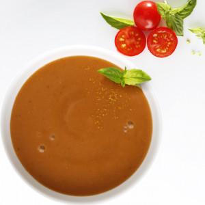 Mixé-lisse au Bœuf et à la Tomate, riche en protéines.
